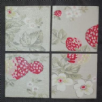Ceramic Wall Tiles Made With Cath Kidston Wild Strawberry